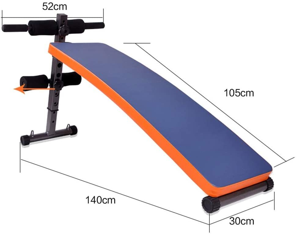 Foldable Sit Up Bench, Fitness Bench, Foldable Sit-ups Fitness Chair, Multifunction Dumbbell Stool, Unisex Abdominal Muscle Plate Exercise Aid Supine Board Push Chair, Exercise Bench, Orange