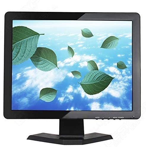 "17"" Inch CCTV Monitor HD 12801024 Portable Display TFT LCD Color Video Monitor with BNC HDMI VGA AV Input for FPV DVR CCTV Cam Car Monitor PC Computer Monitor Home Office Surveillance System (17 Inch)"