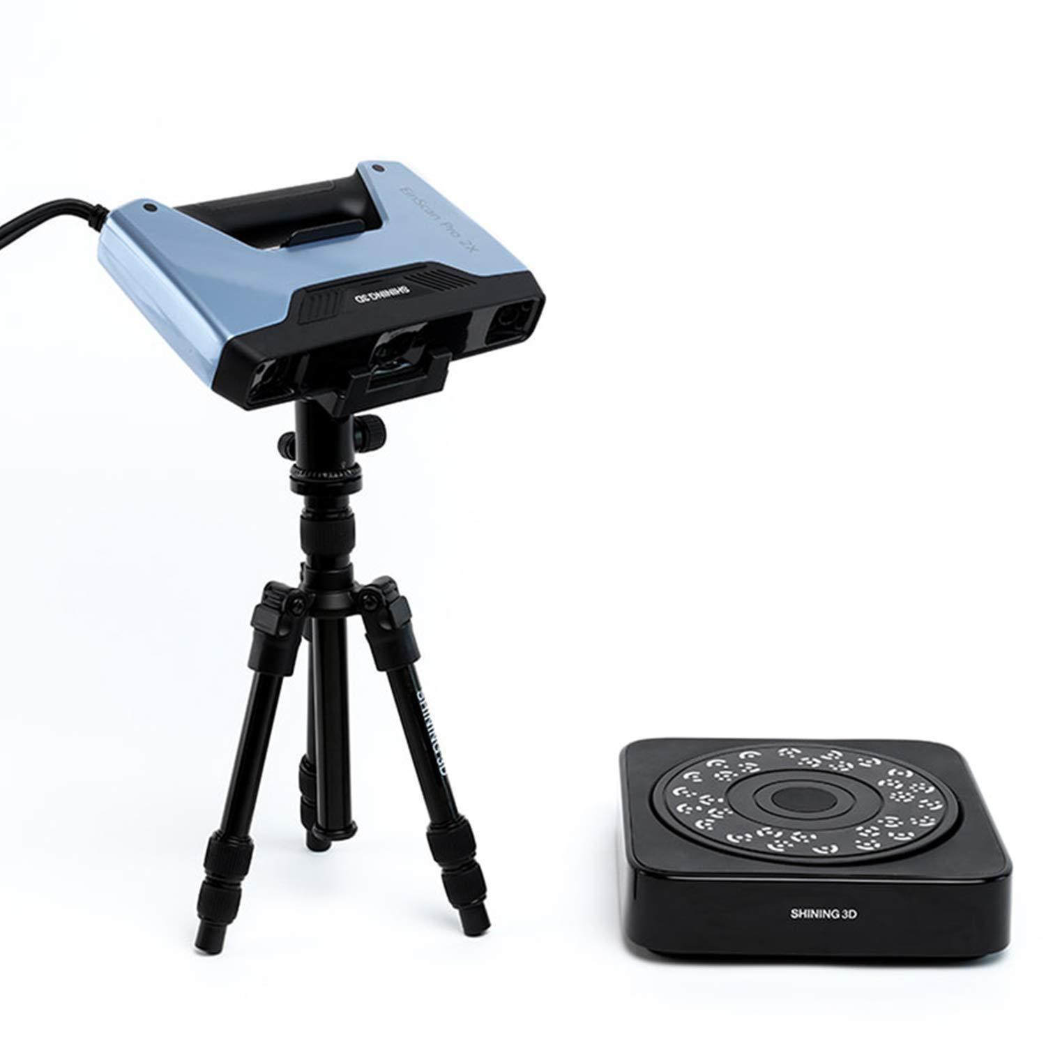 [ EinScan Pro 2X ] + [ Industrial Pack - Tripod and Turntable ] Shining3D Multi-Functional Handheld 3D Scanner with Lifetime SolidEdge CAD Software for Auto Art Design Healthcare Research Education