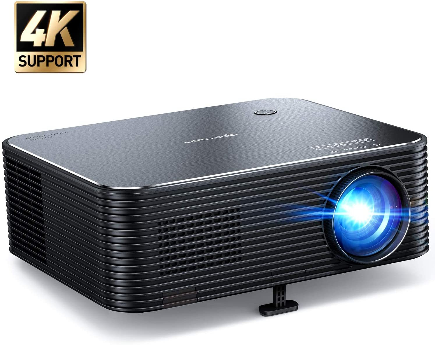 Projector, APEMAN Native 1080P HD Home Video Projector, Support 4K Movie, 300'' Display, Remote Electronic Keystone Correction, 50000hrs Life, for Phone/TV Stick/Computer/HDMI/Business Presentation