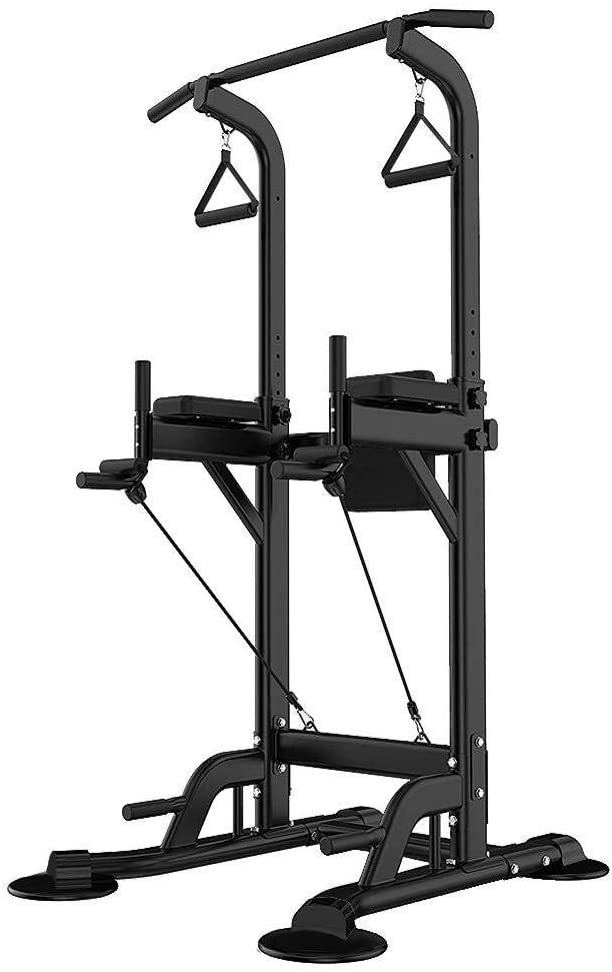 Power Tower Adjustable Height Home Fitness Workout Station Dip Stands Pull up Bar Push Up