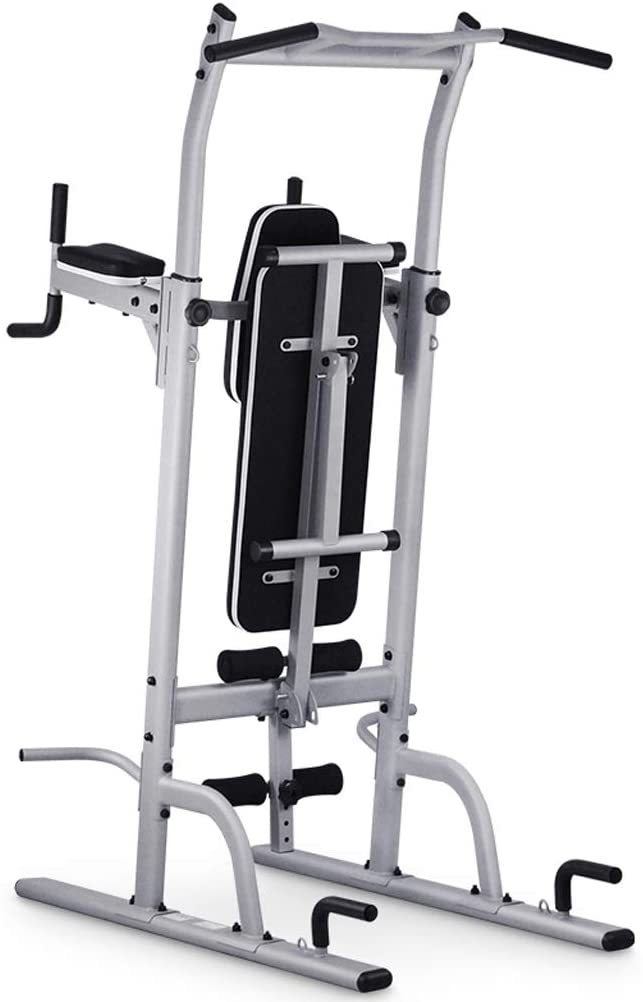 Workout Dip Stand Gym Pull Up Bar Station Power Tower Professional Strength Training Fitness Equipment Durable Stable Home