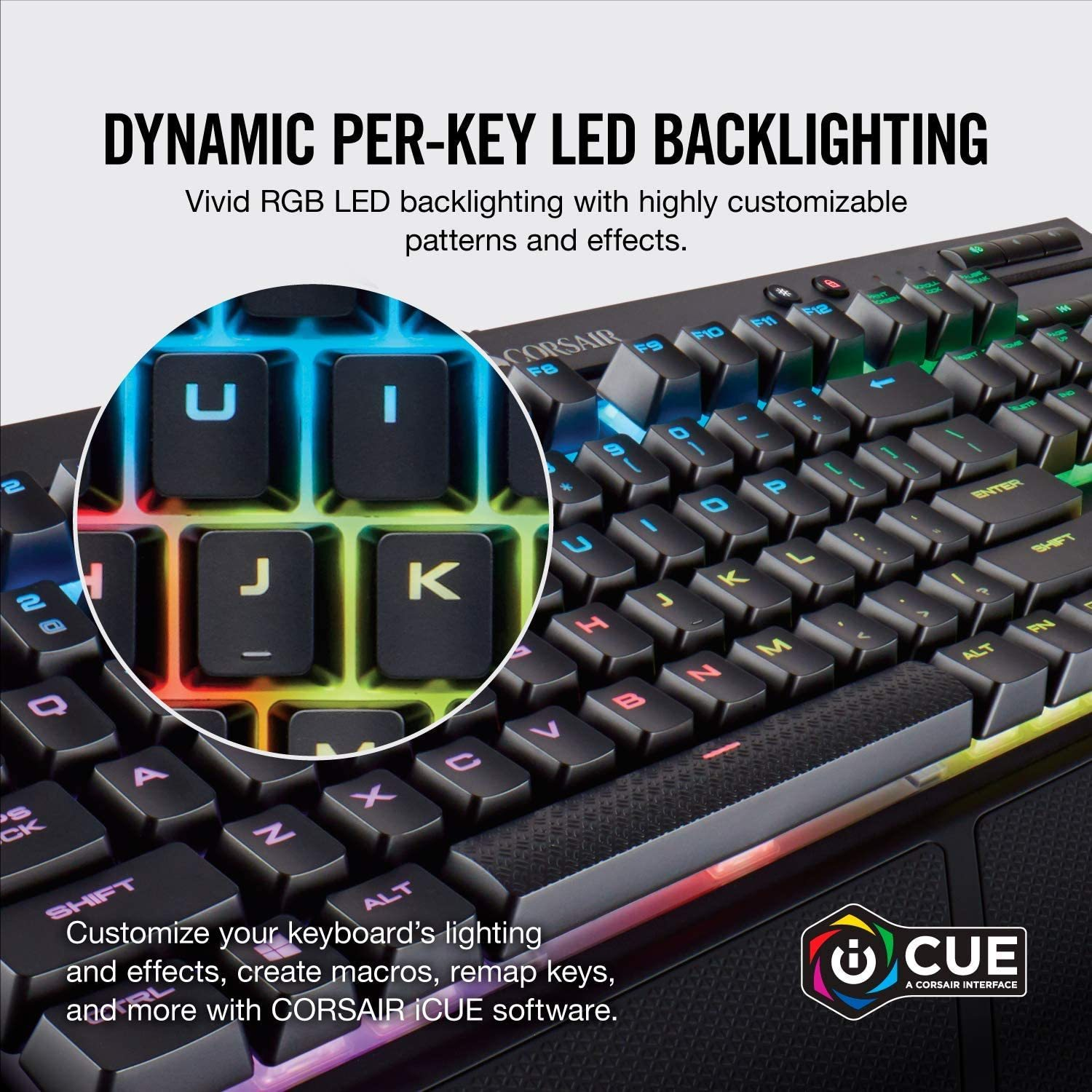 K68 RGB Mechanical Gaming Keyboard, Backlit RGB LED, Dust and Spill Resistant - Linear & Quiet - Cherry MX Red