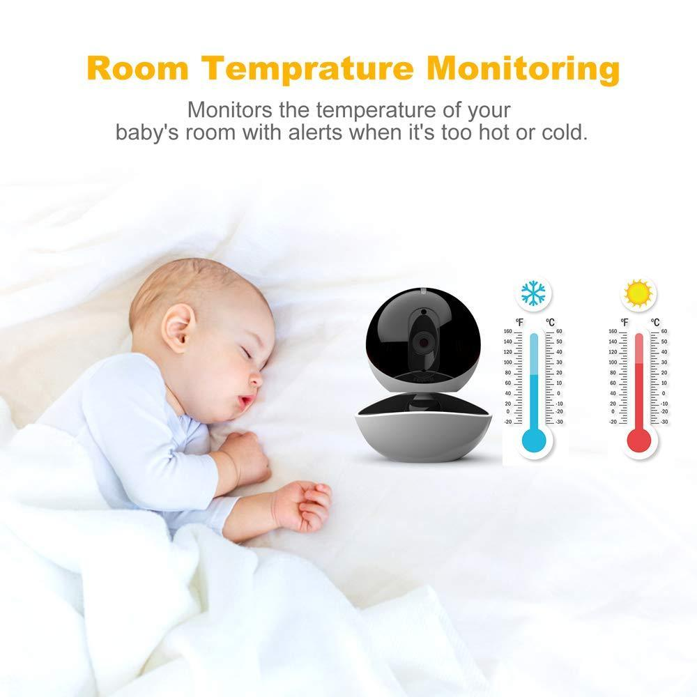 Baby Monitor with 2 Digital Cameras,LBtech Wireless Video Monitor,4.3 inches LCD,Automatic Night Vision,Two-WayTalkback,Temperature Detection,Power Saving,Zoom in Lens,Support Multi-Camera