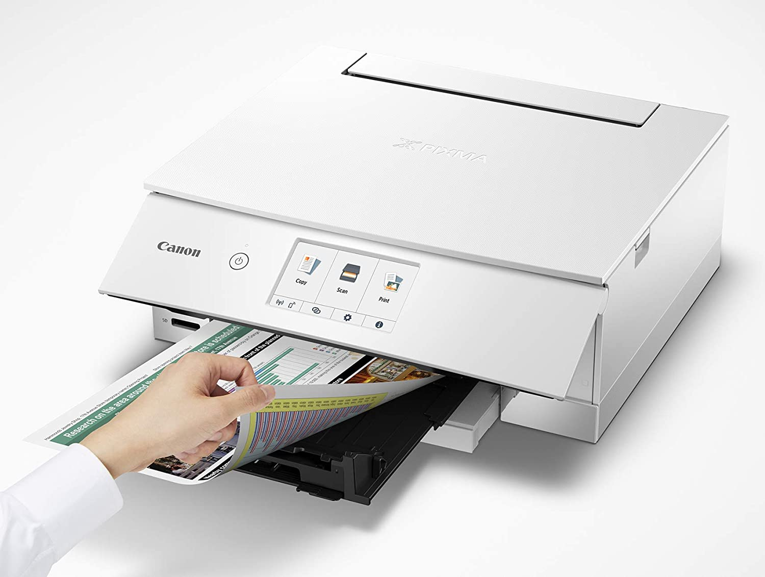 TS8320 All In One Wireless Color Printer, Copier, Scanner, Home Inkjet Printerwith Mobile Printing, White, Amazon Dash Replenishment Ready