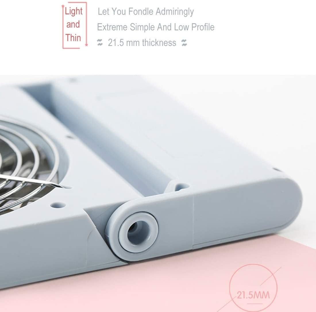 Simple Style Mini Notebook Folding USB Fan with Wind 3 Speeds(Pink). (Color : Pink)