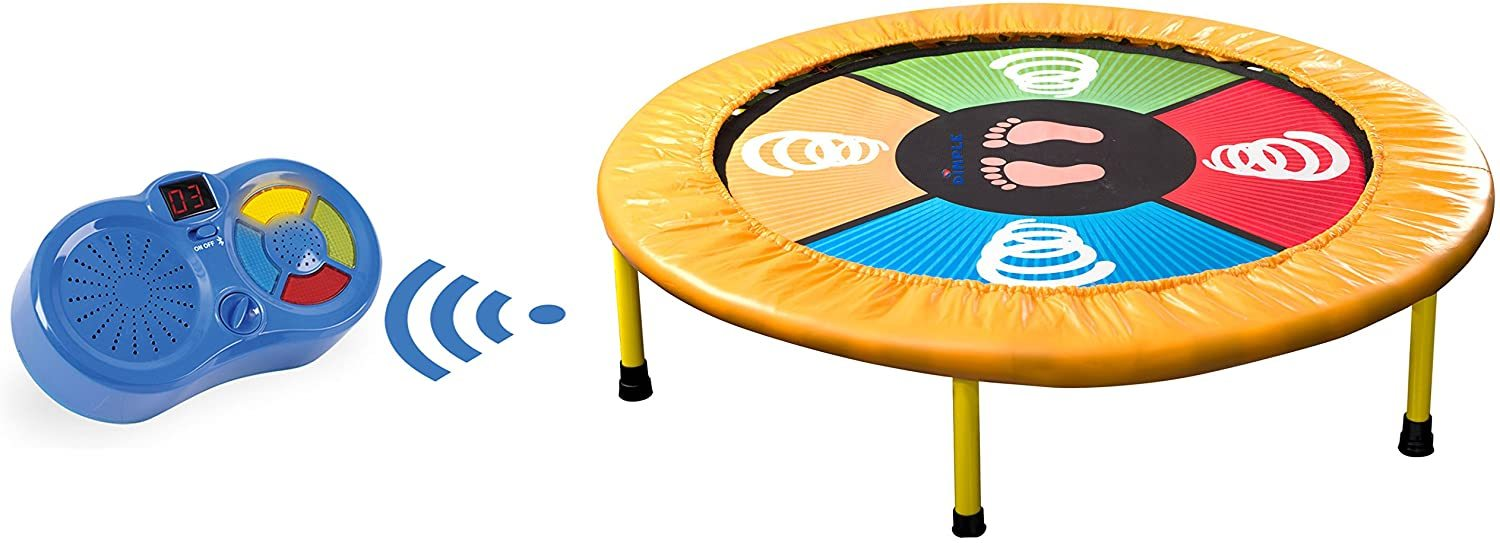 Mini Trampoline, Arcade Style Dance Game, Jump and Play Electronic Musical Trampoline, Connects To Smartphone, Exercise Trampoline for Indoor/Garden/Workout Cardio Compatible with Bluetooth
