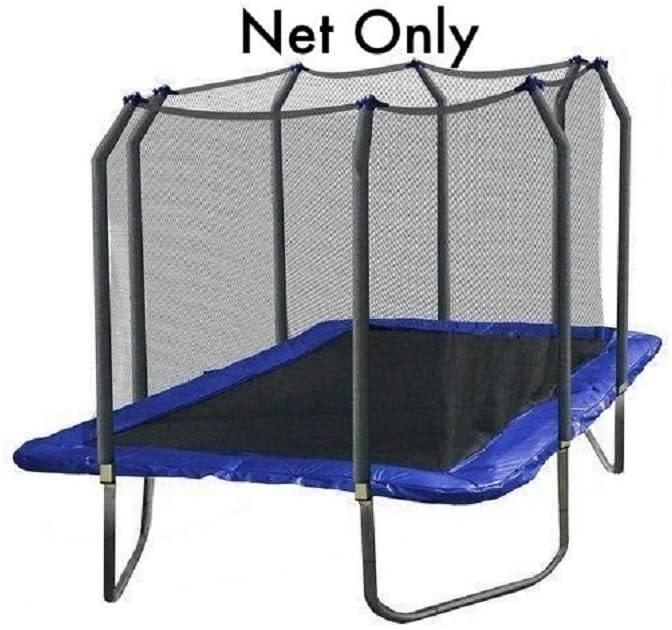 Net ONLY for 9ft x 15ft Rectangle Trampoline Enclosure Using 8 Poles - NET ONLY