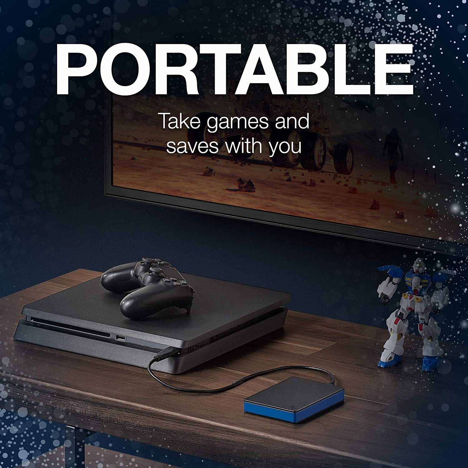 STGD4000400 Game Drive 4TB External Hard Drive Portable HDD - Compatible with PS4
