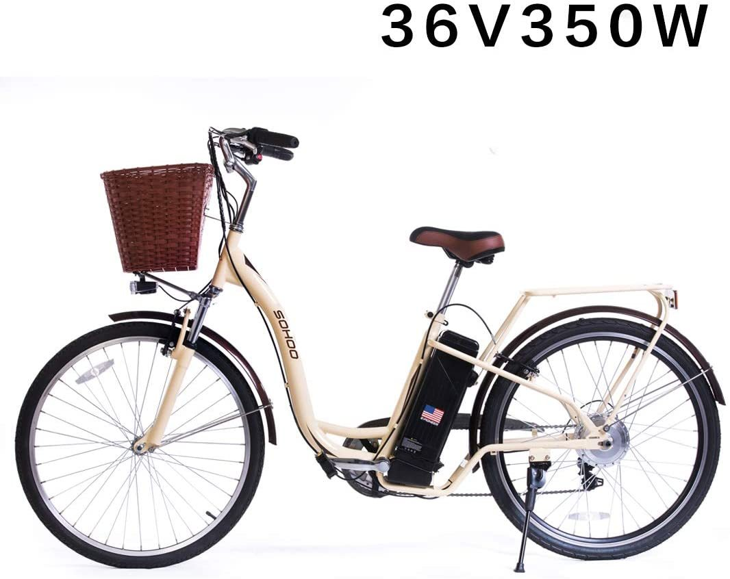 "36V350W10AH 26"" Adult Mountain Electric Bicycle City E-Bike Beach Cruiser"