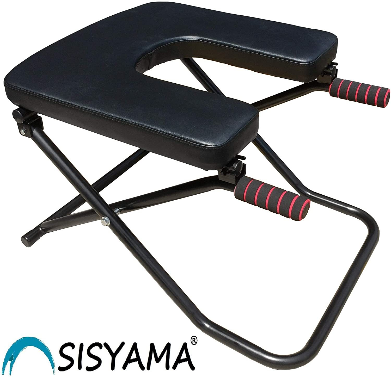 Fitness Yoga Headstand Chair Inversion Bench + Workout Manual Longer Wider Bigger Feet Up Trainer