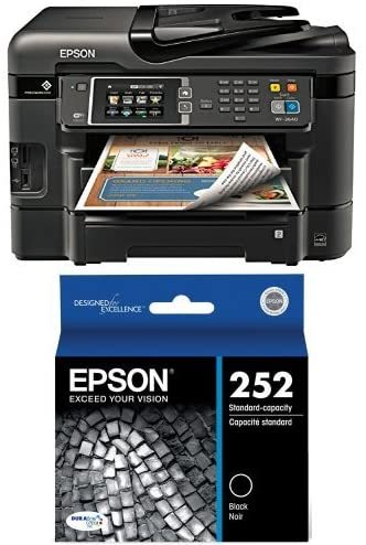 Workforce WF-3640 Wireless Color All-in-One Inkjet Printer with Scanner and Copier, Amazon Dash Replenishment Enabled