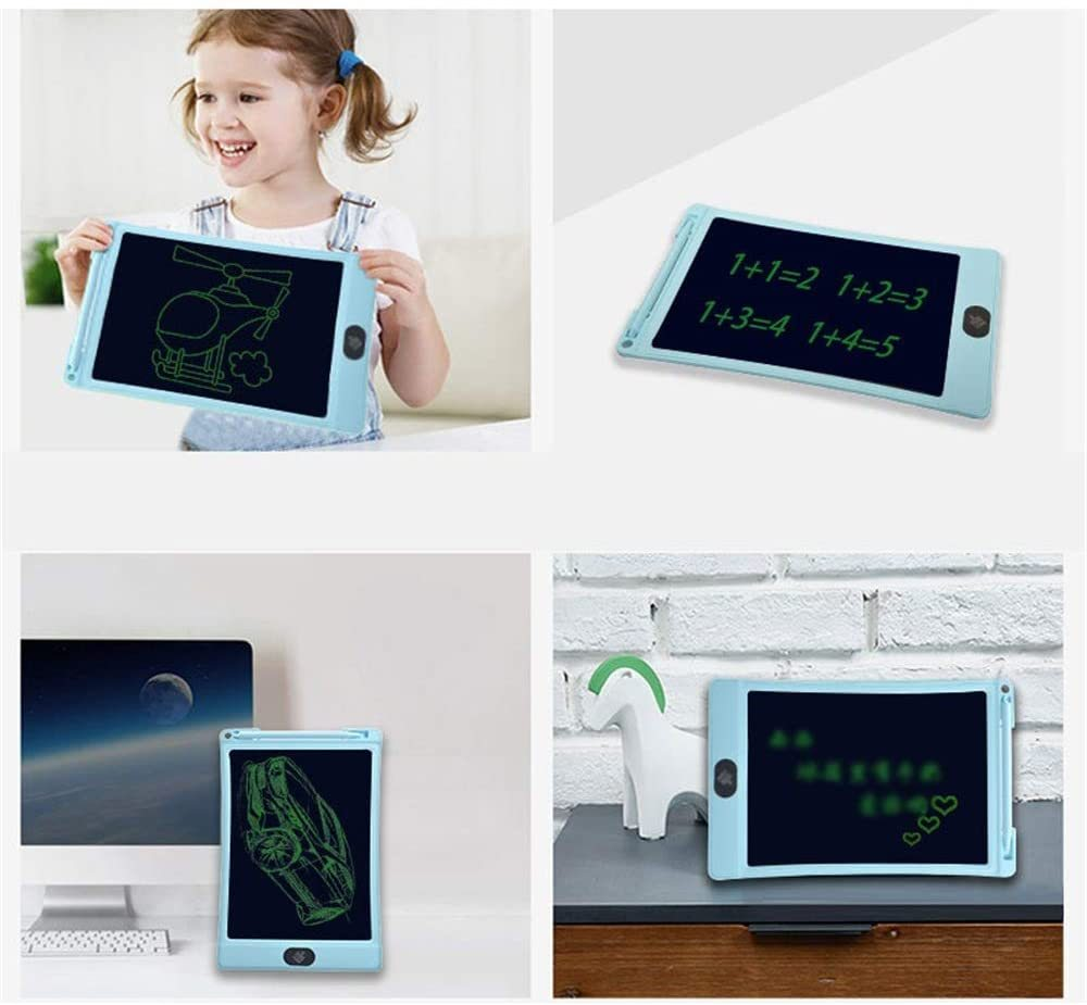 Drawing Tablet LCD Tablet Computer Smart Children Tablet Drawing Board Business Office Record Board Gifts for Girls Boys (Color : Blue, Size : 10 inches)