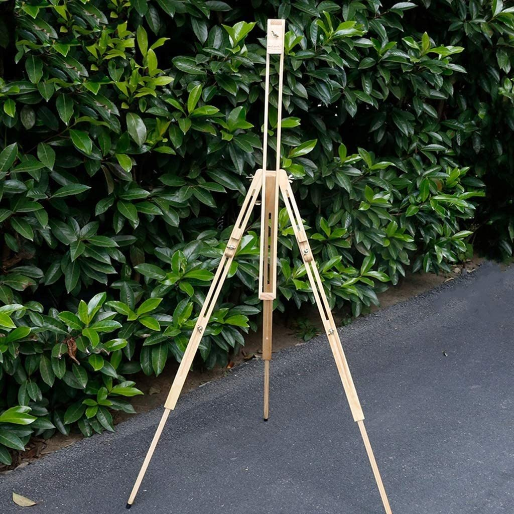 no logo SH-CHEN Easels, Sketched Solid Wood Easel Foldable and Convenient for Students to Use for Adults. Can Be Used As Activity Display Stand 90X70X125(180) cm Easel Art Supplies