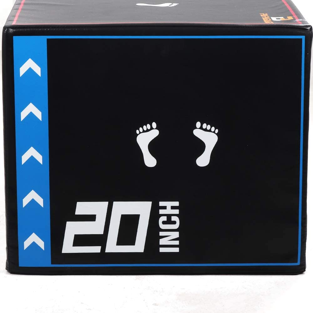 "3 in 1 20'' x 24'' x 30"" Foam Plyometric Box Jumping Exercise"
