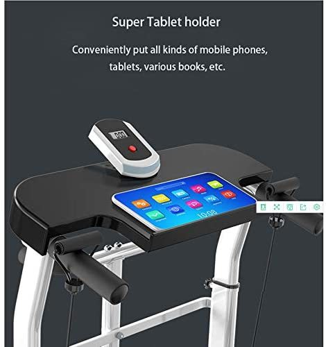 Mechanical Treadmill 4-in-1, with Mechanical Treadmill, Sit-ups Pannel, T-wisting Machine, Draw Rope Mechanical and Massage Wheel LED Display Folded with Tablet Stand,(Upgraded Version)