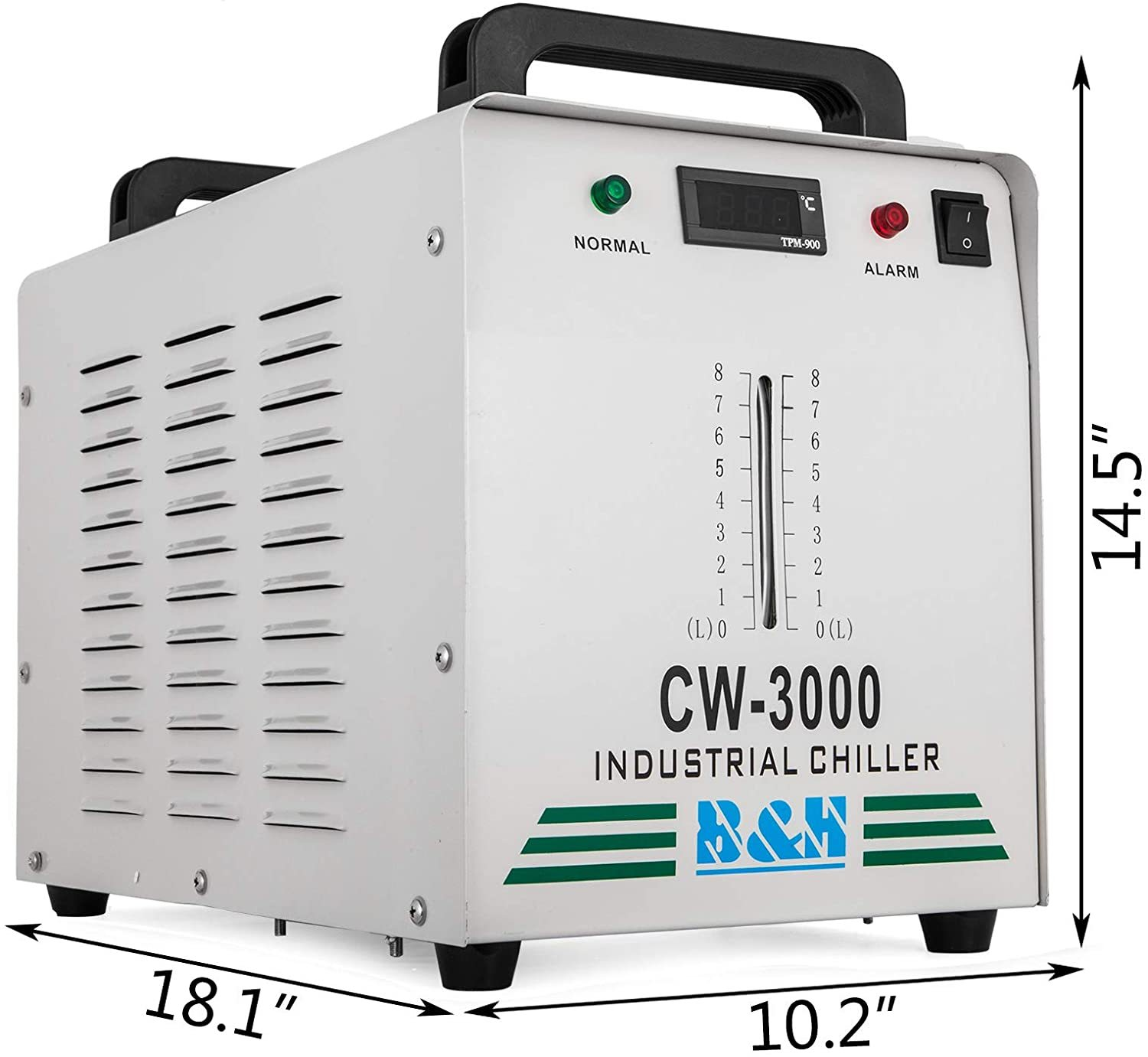 Industrial Chiller 9L Capacity 220V CW-3000DG Water Chiller Thermolysis Laser Water Chiller for 60W 80W CO2 Glass Tube