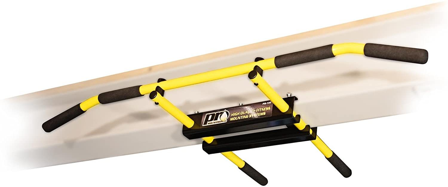 I-Beam Pull up Bar/Chin up Bar (Yellow Long Bar with Bent Ends)