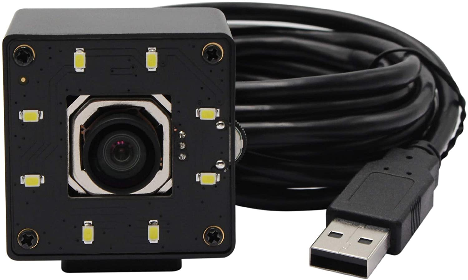 HD Webcam USB Webcam 4K 3840x2160 Autofocus Day and Night No Distortion CMOS IMX415 HD USB Camera with White LEDs
