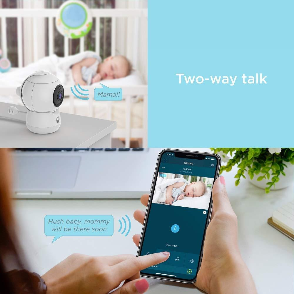 Peekaboo Video Baby, Elderly, Pet Monitor with Night Light - 2 Portable Cameras with Two-Way Audio - 1080p, Wide Angle View, Night Vision - Remote Pan Scan, Digital Zoom, Tilt