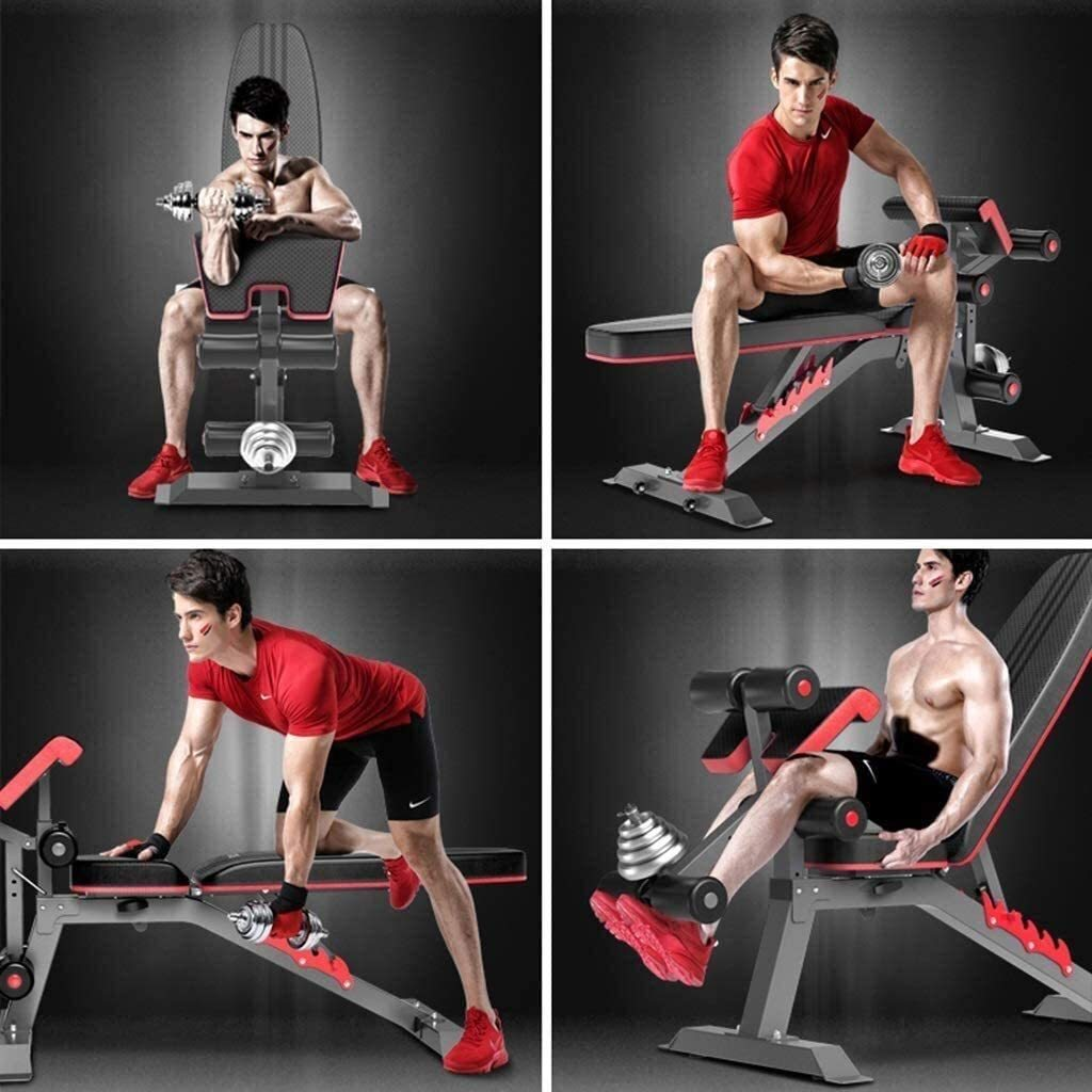 Adjustable Weight Bench Multi-Functional Fitness Chair Home Fitness Equipment Supine Board Sit-up Bench Bench Press Bench Without Dumbbells