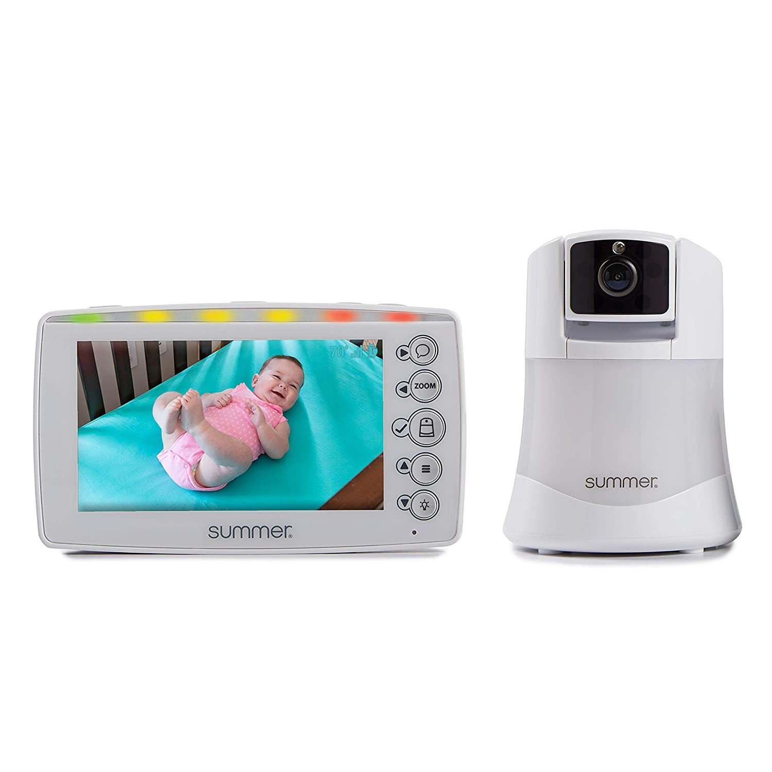 Baby Pixel Video Baby Monitor with 5-inch Touchscreen and Remote Steering Camera – Baby Video Monitor with Clearer Nighttime Views and SleepZone Boundary Alerts