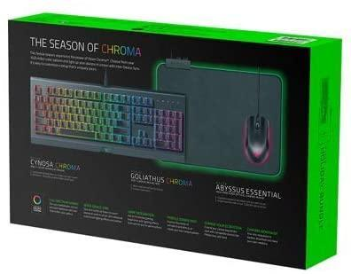 Holiday Bundle 2018 Cynosa Chroma Gaming Keyboard, Abyssus Gaming Mouse, Goliathus Chroma Mousepad