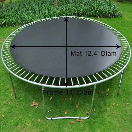 Mat Replacement for 14' Round Trampoline w/ 88 Rings