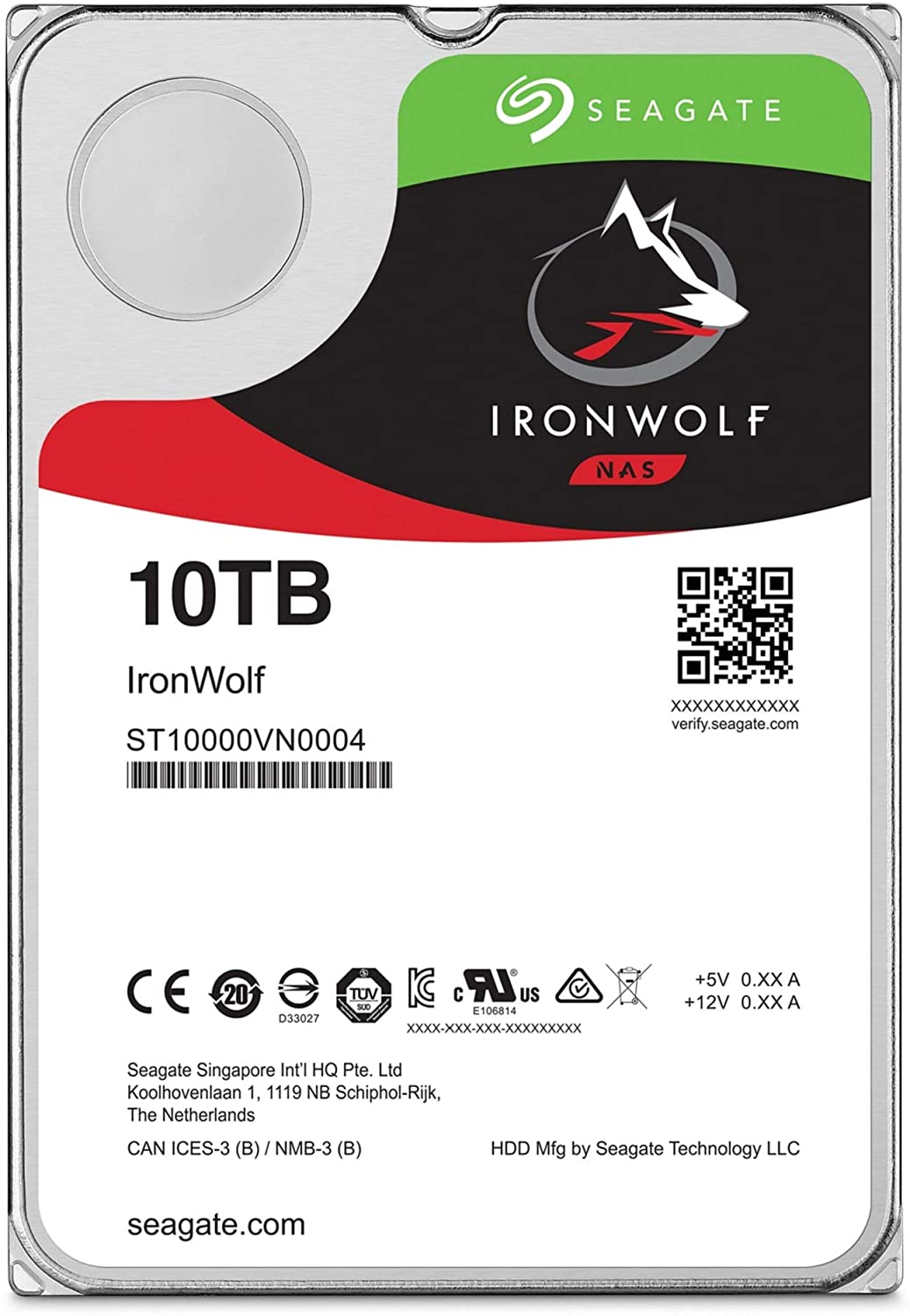 IronWolf 10TB NAS Internal Hard Drive HDD – 3.5 Inch SATA 6Gb/s 7200 RPM 256MB Cache RAID Network Attached Storage Home Servers – Frustration Free Packaging (ST10000VN0004)