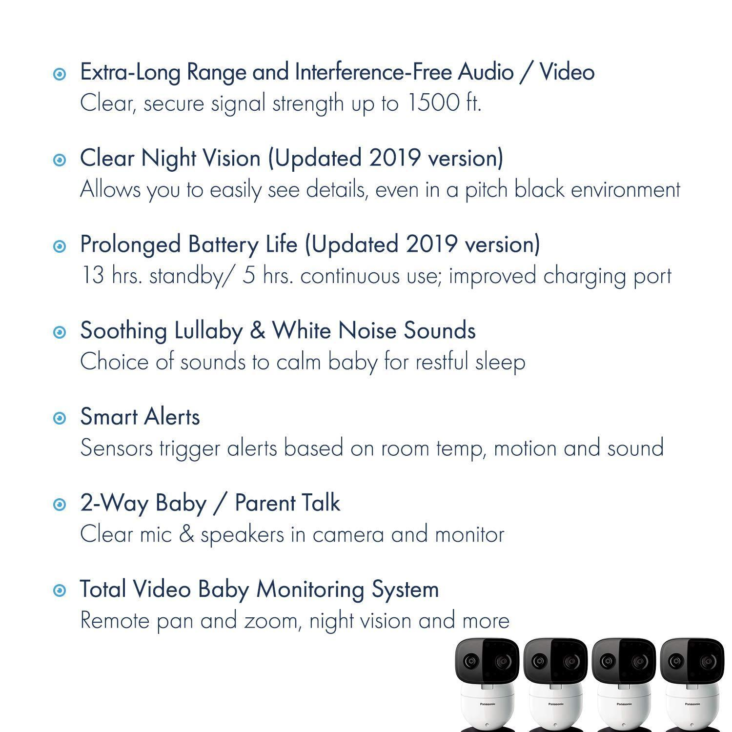 Video Baby Monitor/Camera with Remote Pan/Tilt/Zoom and Three Additional Add-On Cameras