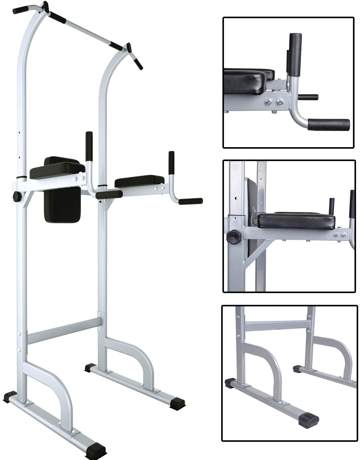 Power Tower,Adjustable Height Dip Stands Multi-Function Pull Up Bar Standing Tower Gym Equipment Sports