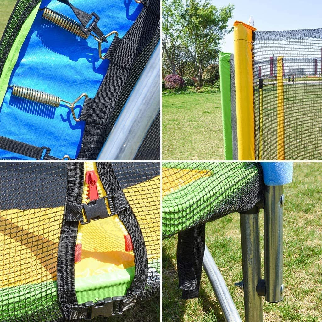5FT Trampoline with Enclosure Net Jumping Mat and Spring Cover Padding Indoor or Outdoor Backyard Trampoline for 3-12 Years Old Kids