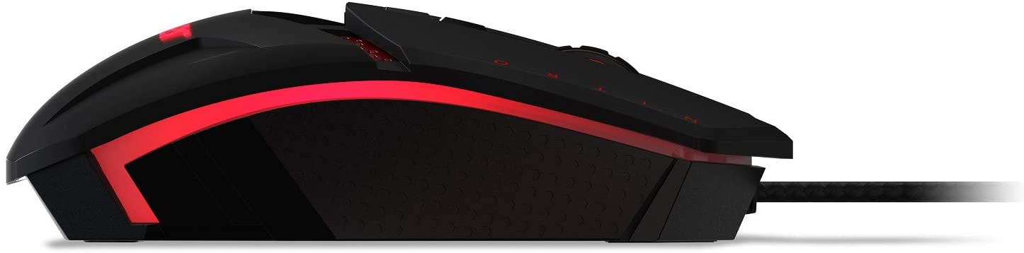 Gaming Mouse – Customizable Weight to Maximize Your Gameplay, 8 Buttons and 6 Adjustable DPI Lighting