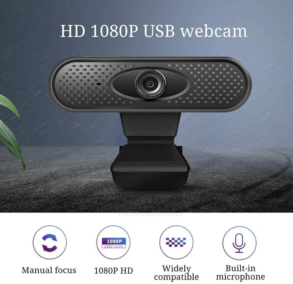 Webcam, Full 1080P HD Webcam with Auto Focus, 110 Degrees Wide-Angle 30fps. Streaming Computer Web Camera for USB Laptops and Desktop Video Calling,Conferencing