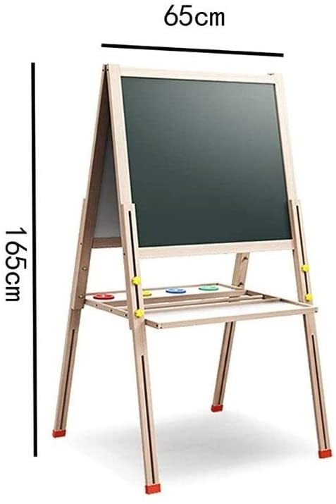 Double-Sided Drawing Board Children's Blackboard Lifting Large Household Support Easel M-20-4-24