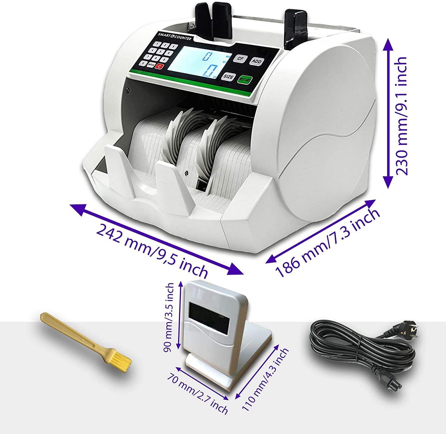 Money Counter - Counts Number of Bills NOT monetary Total - UV/MG/IR Counterfeit Bill Detection - Cash Counting Machine