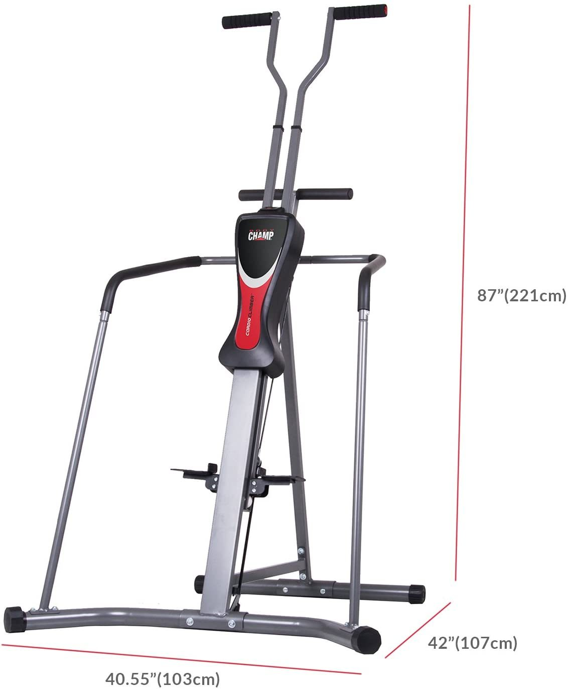 Leisa Hart Cardio Vertical Stepper Climber / Includes Assembly Video, Meal Plan Guide, Workout Video access BCR890,Gray