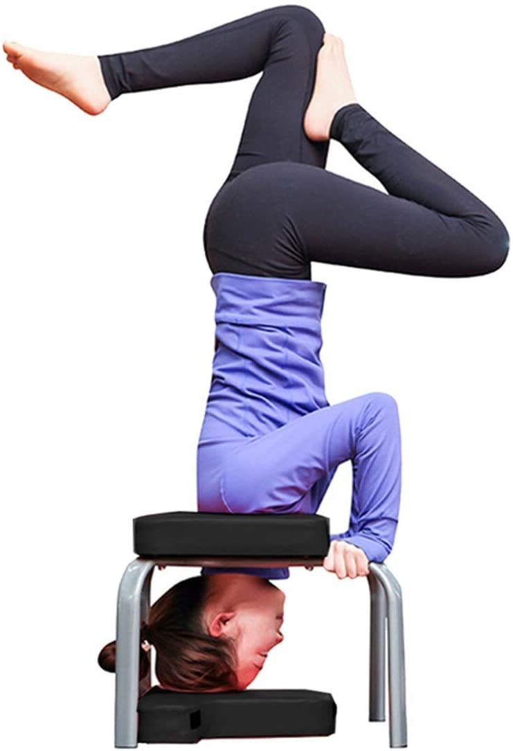 Yoga Stool Inversion Headstand Chair Inversion Bench Yoga Aids Workout Chair Headstand Stool Sports Exercise Bench Fitness Equipment Yoga Headstand Bench