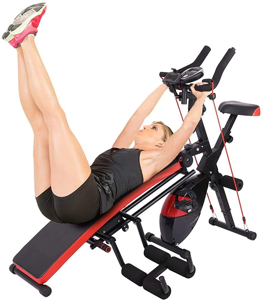 Bike Home Fitness Machine Abdominal Trainers Push-ups Workout Beauty Waist Sit-up Bench Trainer Cardio Equipment