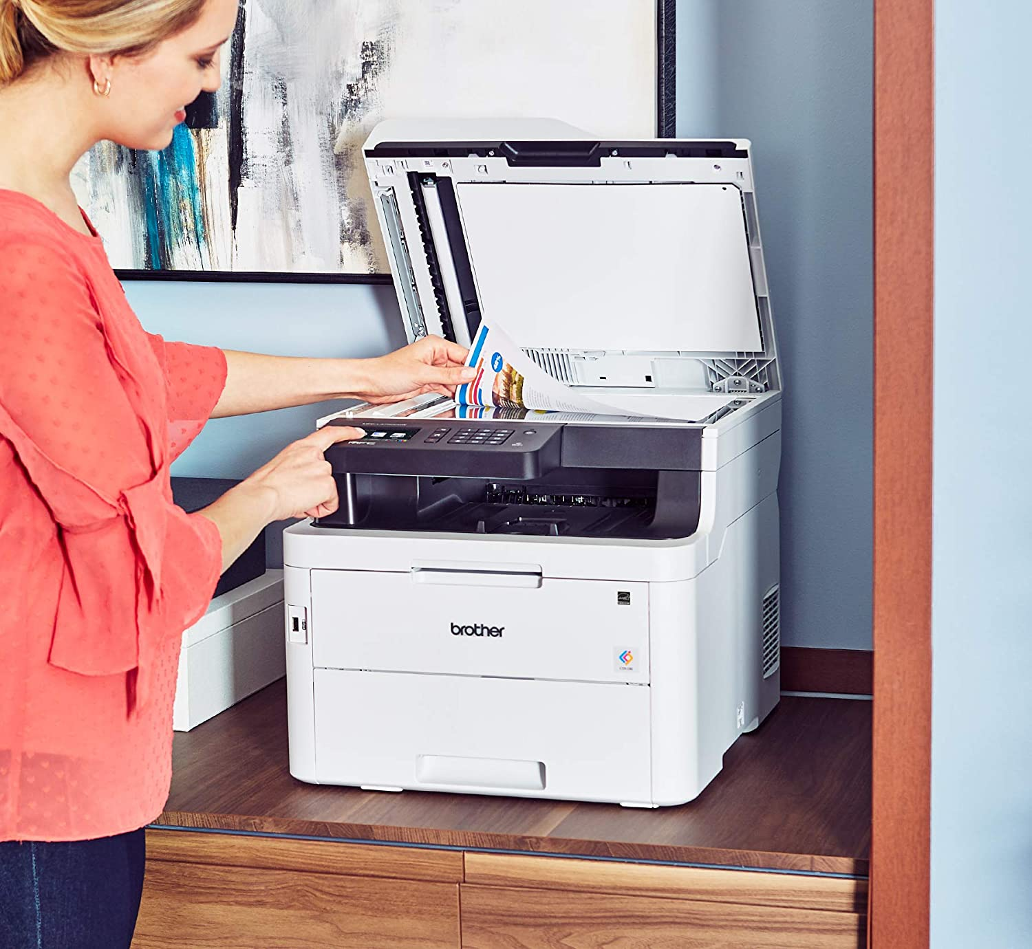 MFC-L3750CDW Digital Color All-in-One Printer, Laser Printer Quality, Wireless Printing, Duplex Printing, Amazon Dash Replenishment Enabled