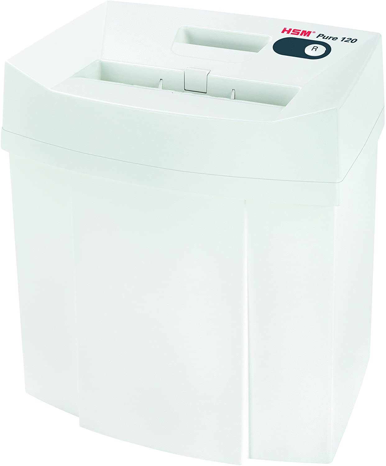 Pure 120 Strip-Cut Shredder; shreds up to 14 sheets; 5.3-gallon capacity
