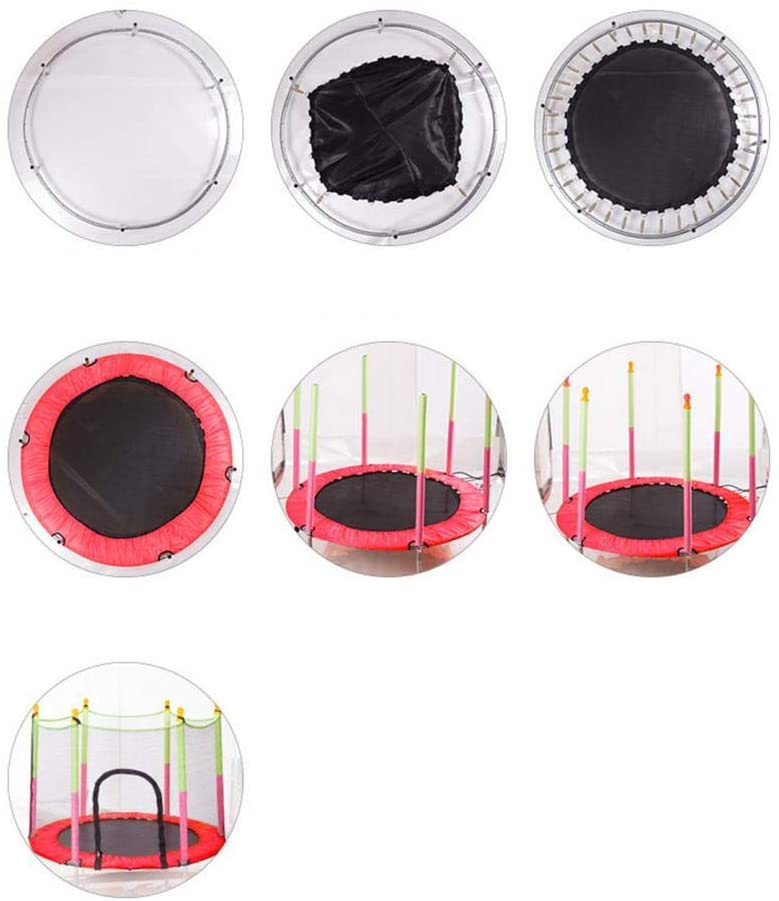 Trampoline for Kids, Trampoline with Safety Pad Enclosure Net, Outdoor Indoor Mini Trampolines for Kids