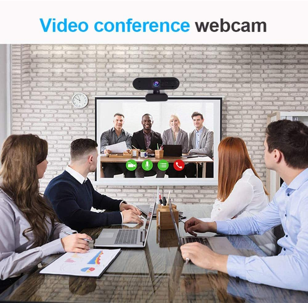 Webcam with Microphone for Desktop, AUAAQ 1080P Webcam, Drive-Free Noise Reduction Anti-Voyeur Autofocus Af Camera for Windows PC Linux Mac Laptop YouTube OBS Xbox Xsplit Skype Facebook
