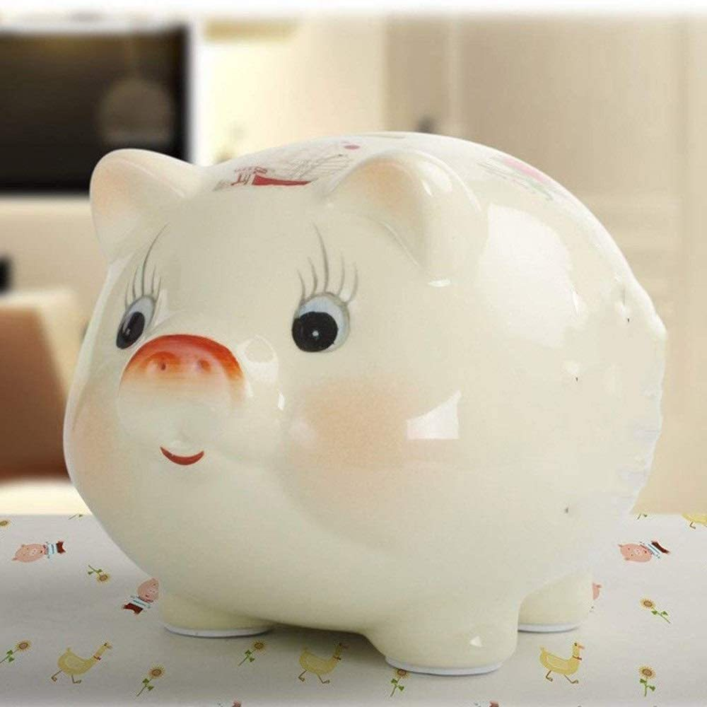 Ceramic Piggy Bank Makes A Perfect Unique Gift Nursery Decor Keepsake Or Savings Piggy Bank For
