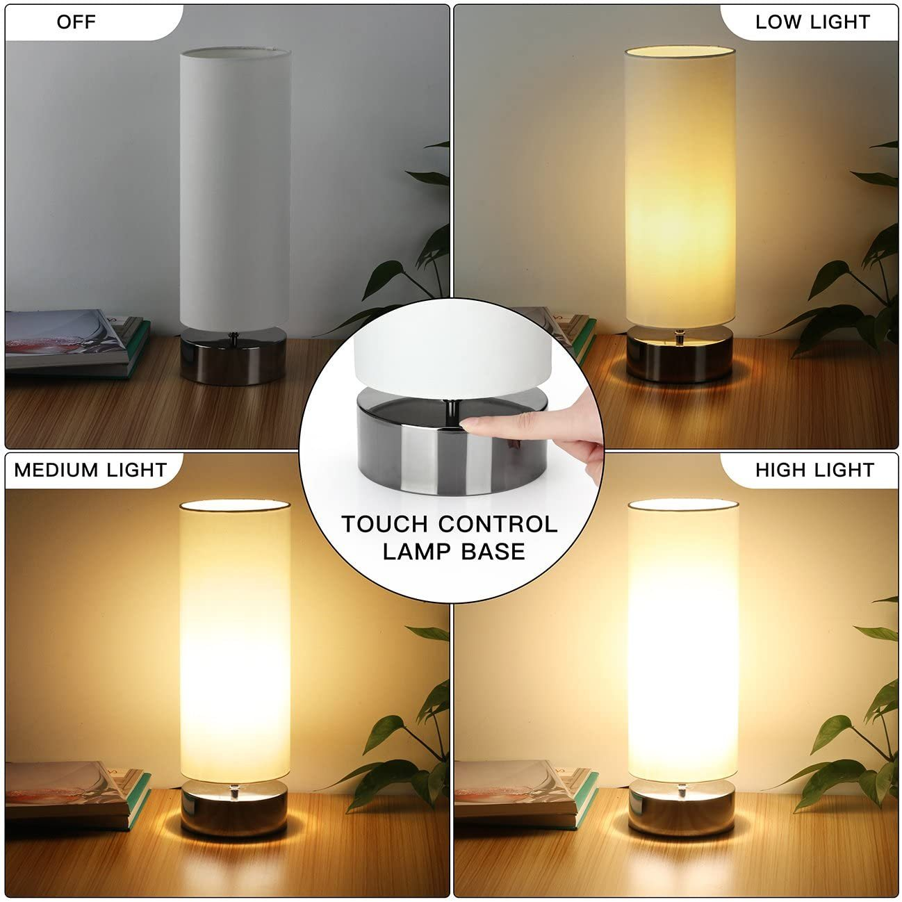 touch control table lamp bedside minimalist desk lamp