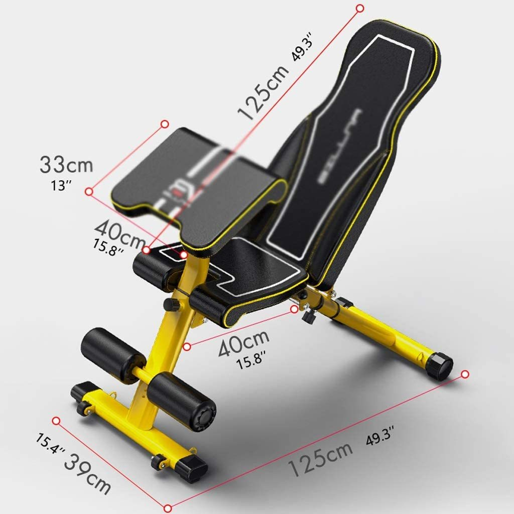 Foldable Weight Bench Supine Board Sit Up Bench Dumbbell Stool Multifunctional Crunch Bench Indoor Abdominal Fitness Device