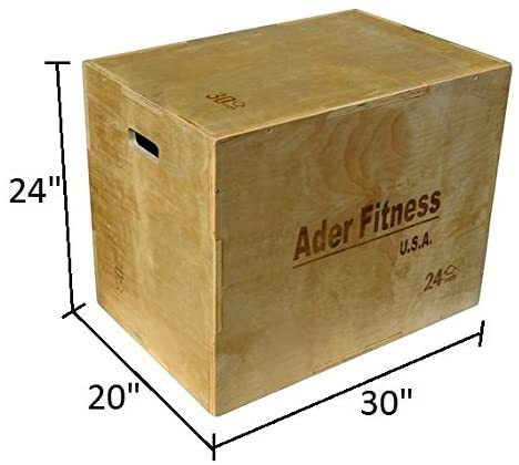 "Ader 20"" 24"" 30"" Three in One Wooden Plyo Box Platform"
