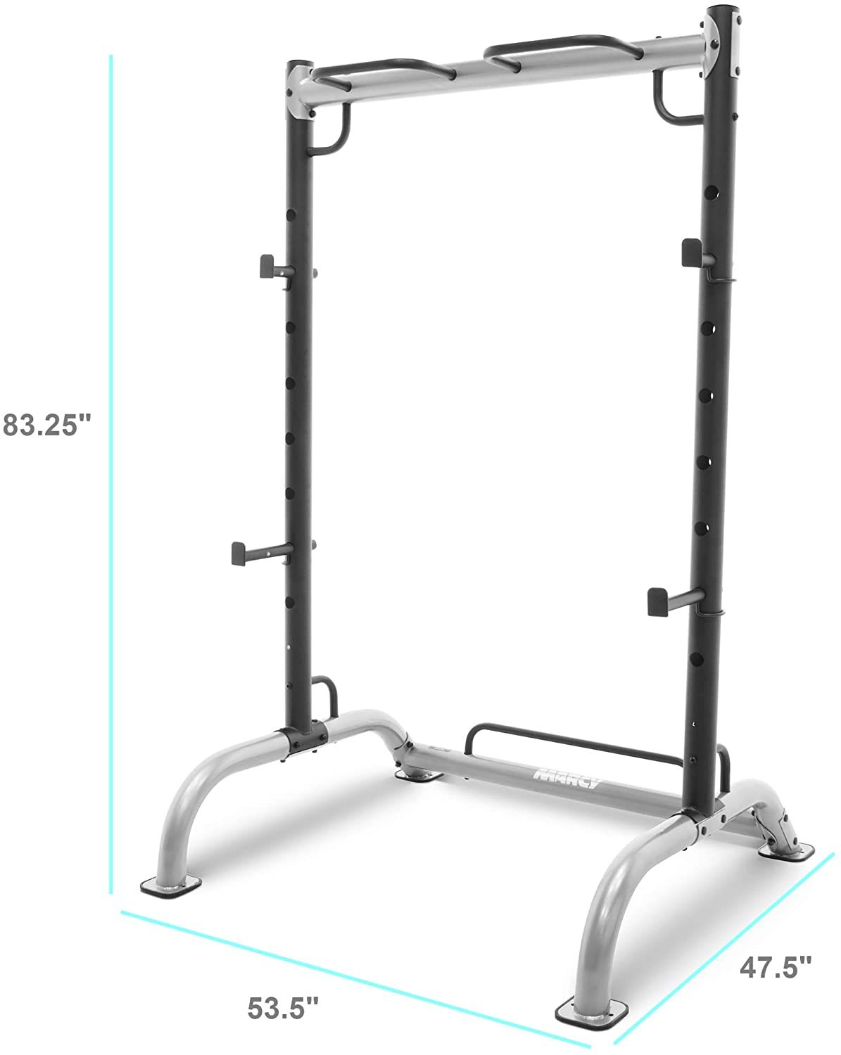 Cage Squat Rack Pull Up and Push Up Station with Olympic Barbell Catches MWB-70500