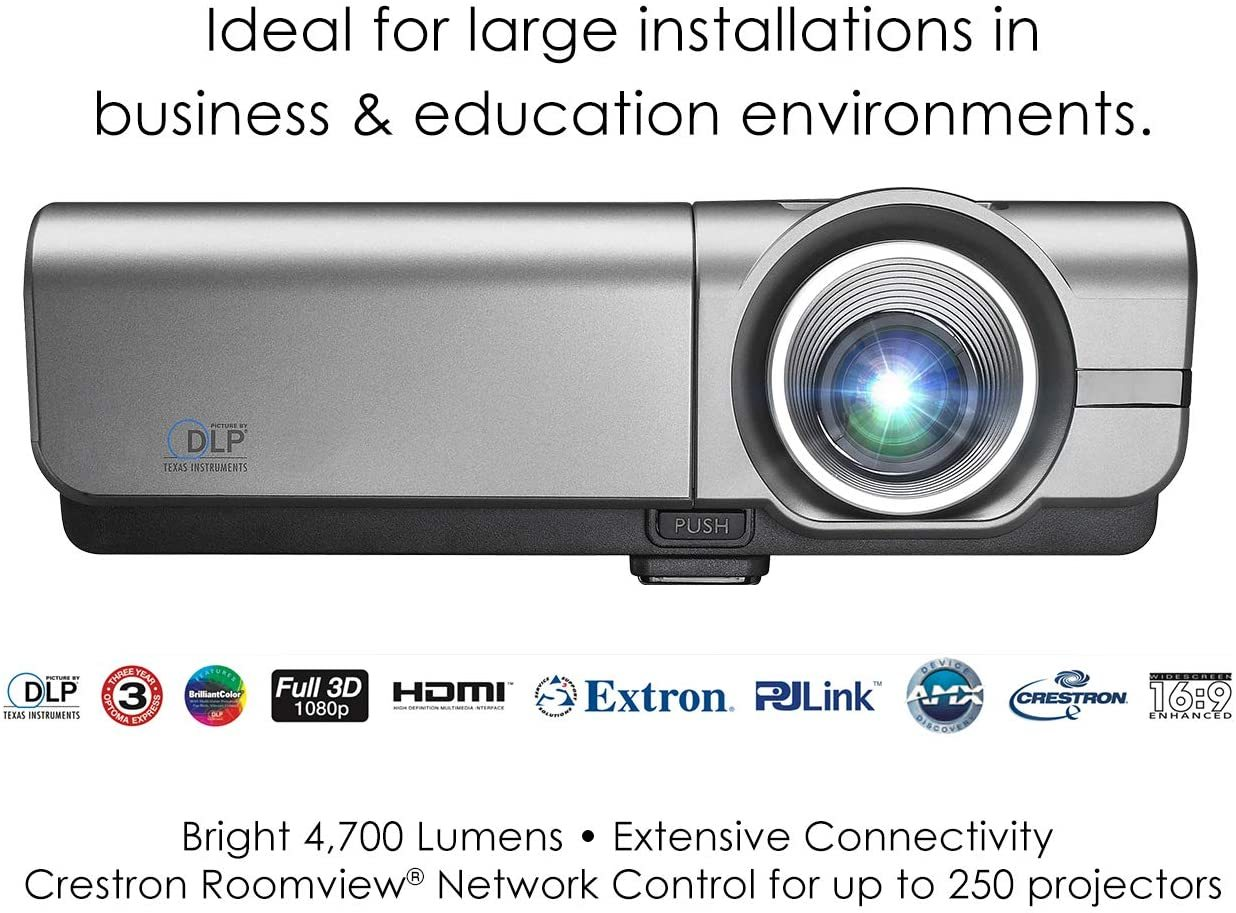 EH500 High Brightness Projector for Business with 4,700 Lumens, HDMI and Crestron RoomView for Network Control