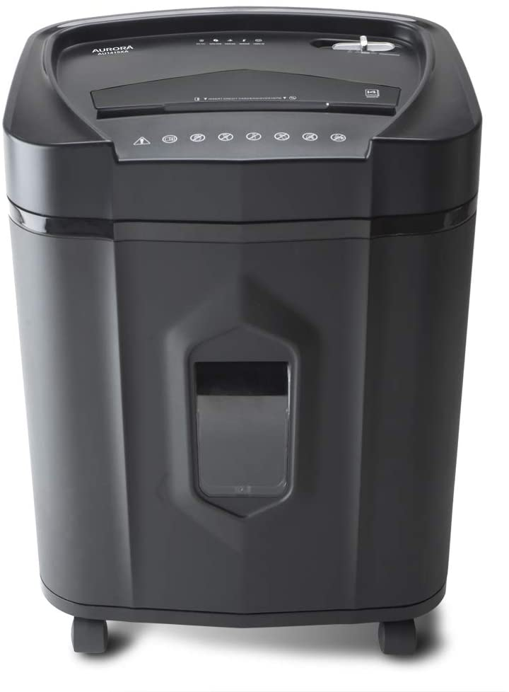 AU1415XA 14-Sheet Crosscut Paper/CD and Credit Card Shredder/ 5-Gallon pullout Basket/ 10 Minutes Continuous Run Time